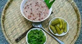 Hình ảnh món Cháo Đậu Đỏ Nước Cốt Dừa Ăn Kèm Dưa Muối
