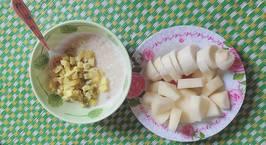 Hình ảnh món Cháo yến mạch khoai lang,hoa quả cho buổi sáng cho Gymer