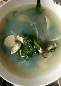 Canh ngao nấu mồng tơi_giải nhiệt mùa hè! :)))