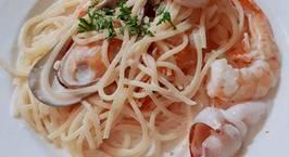 Hình ảnh món Mỳ ý hải sản sốt kem
