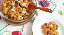 Hình ảnh món Gnocchi khoai tây sốt cà chua, xúc xích đút lò phô mai