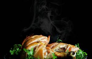 GÀ NƯỚNG BƠ TỎI (cách làm da gà giòn)