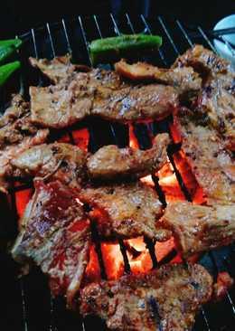 Thịt lợn nướng sa tế 🐷