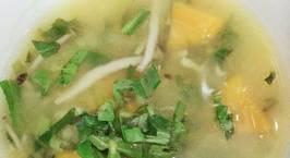 Hình ảnh món Canh Chay Bí đỏ đậu xanh nấm linh chi nâu Hàn Quốc (thuần chay)  Đơn giản dinh dưỡng và dễ làm