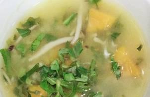 Canh Chay Bí đỏ đậu xanh nấm linh chi nâu Hàn Quốc (thuần chay)  Đơn giản dinh dưỡng và dễ làm