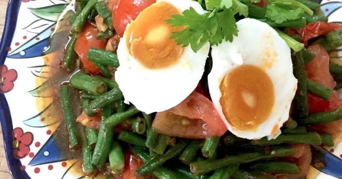 Đậu đũa xào trứng muối