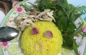 Cơm gà phú yên(mình quê Bình Định)
