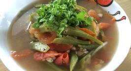 Hình ảnh món Canh chua hến đậu bắp