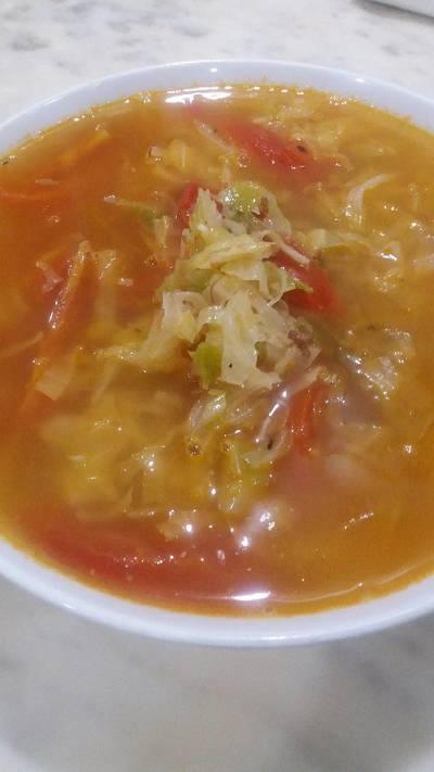 Canh bắp cải cà chua 😄