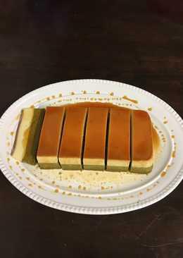 Bánh Flan cheesecake Trà xanh.