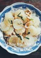 Củ cải xào nấm chay
