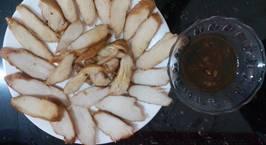 Hình ảnh món Ức gà xíu, ăn kèm với mì sợi vàng vẫn ngon như mì vàng thịt heo xíu