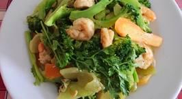 Hình ảnh món Bông cải xanh xào tôm
