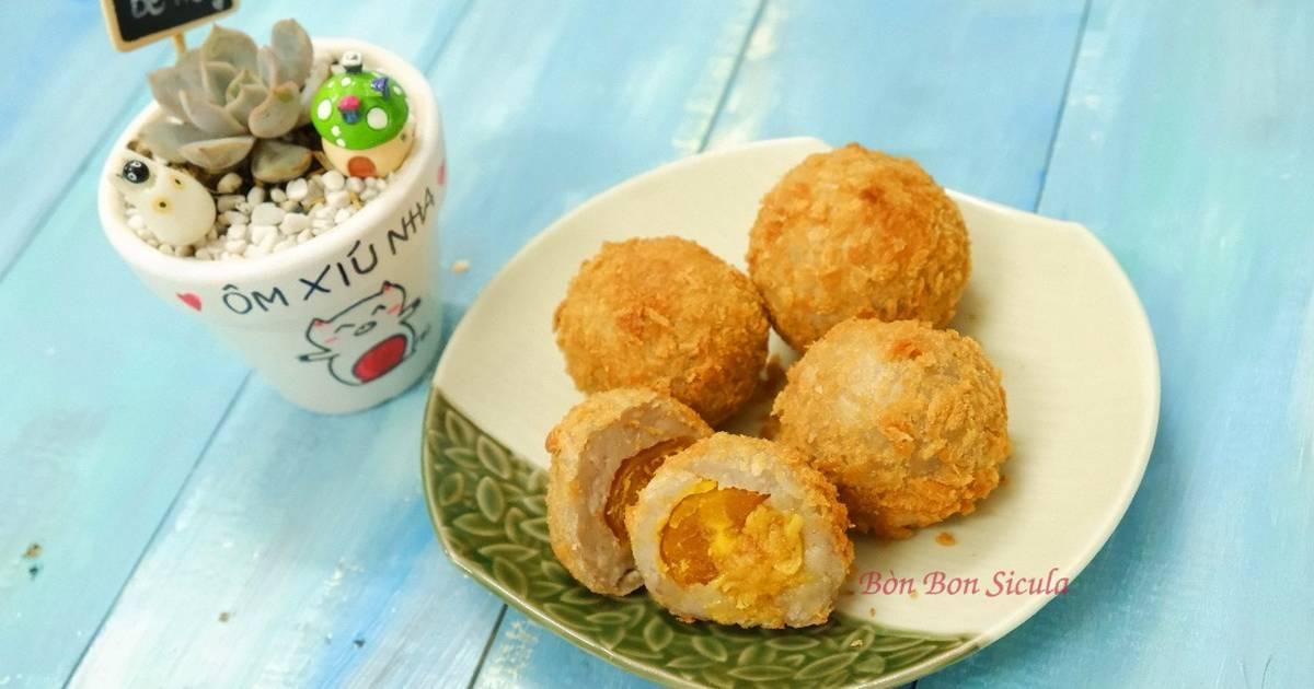 Bánh Khoai Môn Chà Bông Trứng Muối