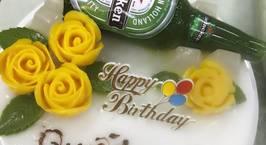 Hình ảnh món Bánh rau câu chai bia hoa nổi 4D