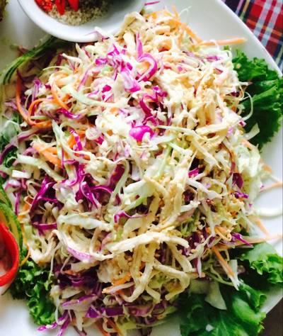 Salad bắp cải mayonnaise