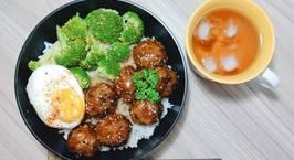 Hình ảnh món Bò băm viên sốt teriyaki