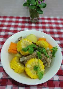 Canh xương hầm khoai tây 🥔 cà rốt 🥕,bắp mỹ 🌽