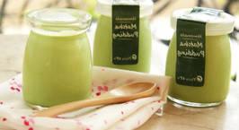 Hình ảnh món Pudding trà xanh nhấm nháp thật ăn một lần là ghiền mà còn đẹp da!