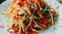 Hình ảnh món Bún gạo lứt trộn ức gà- eat clean