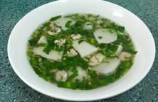 Canh khoai môn sáp (khoai sọ) nấu tép
