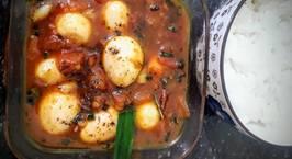 Hình ảnh món Trứng cút rim chua lá gừng
