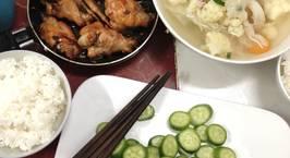 Hình ảnh món Cánh gà chiên nước mắm, canh thịt bầm rau cải (2 người)