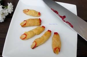 Bánh quy phô-mai,bơ ngón tay cho lễ Halloween.