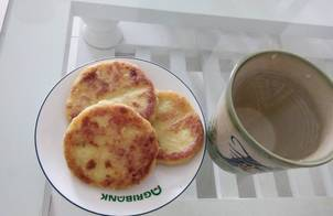 Bánh khoai lang nhân Pho mai (Các mẹ có thể làm món này cho bé yêu ăn dặm)