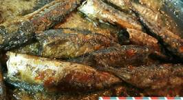 Hình ảnh món Cá nục khô rim mặn ngọt