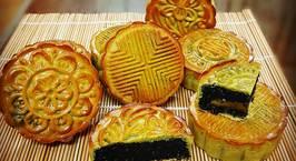 Hình ảnh món Bánh nướng trà xanh nhân mè đen trứng muối