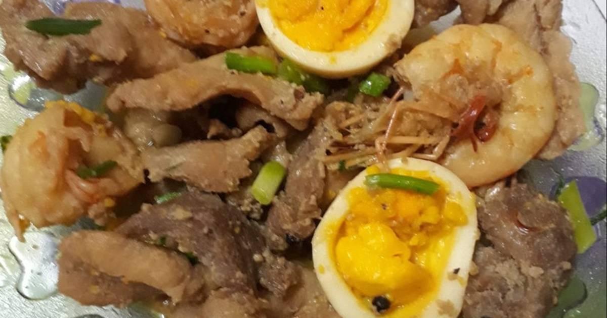 Thịt kho tôm trứng