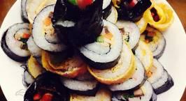 Hình ảnh món Cơm cuộn kimbab Hàn Quốc