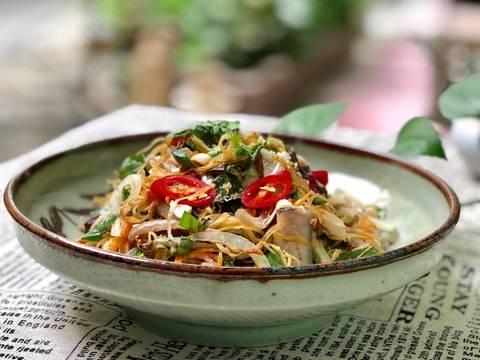 Gỏi Bắp Chuối Thịt Tai Đầu Heo recipe step 7 photo