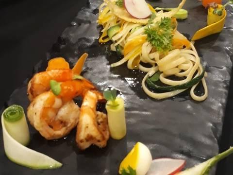 Linguine seafood sauce pesto recipe step 6 photo