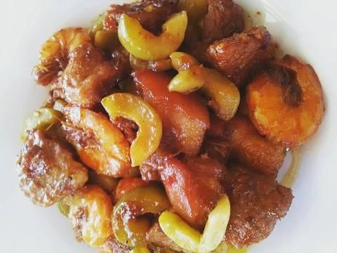 Tôm rang thịt dưa muối recipe step 4 photo