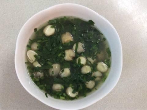 Canh rau lang nấu nấm rơm recipe step 3 photo