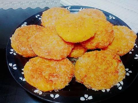 Bán rán bí đỏ 늙은호박부침개 recipe step 4 photo