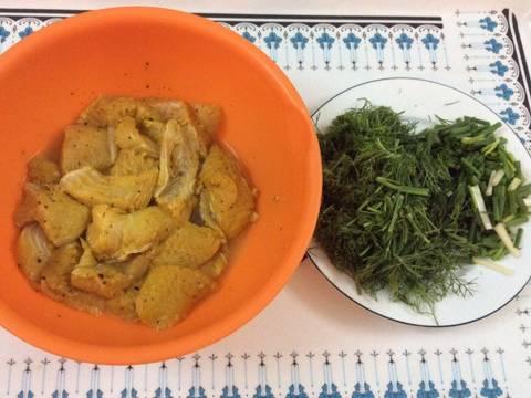 Cá Ba Sa nghệ xào thì là recipe step 4 photo