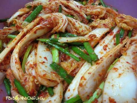Kim chi cải thảo muối xổi 배추걸절이 recipe step 11 photo