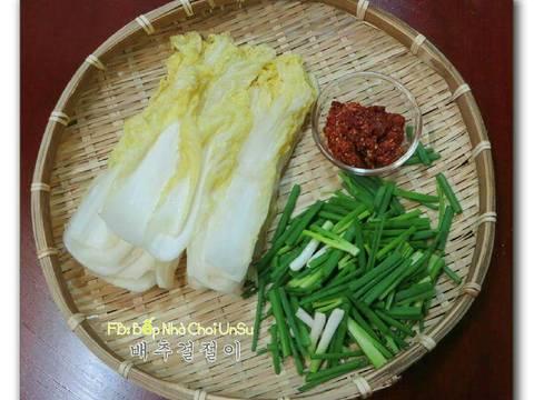 Kim chi cải thảo muối xổi 배추걸절이 recipe step 8 photo