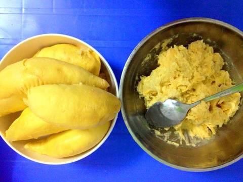Bánh kem tươi sầu riêng (xoài, mít, dâu tây) recipe step 7 photo