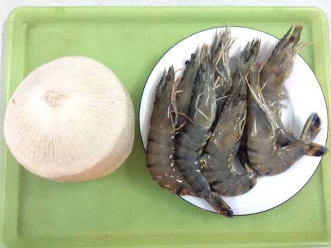 Tôm nhúng nước dừa recipe step 1 photo