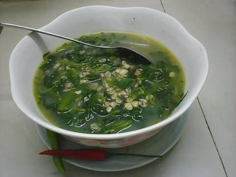 Hến nấu canh rau muống recipe step 4 photo