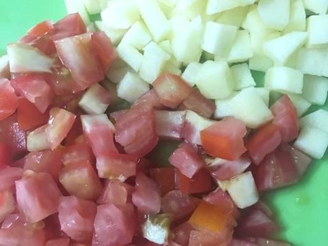 #eatclean - Salad rau mầm hoa quả thập cẩm recipe step 2 photo