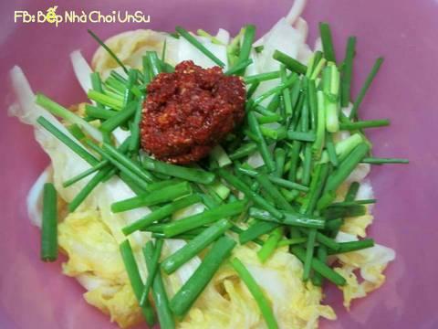 Kim chi cải thảo muối xổi 배추걸절이 recipe step 10 photo