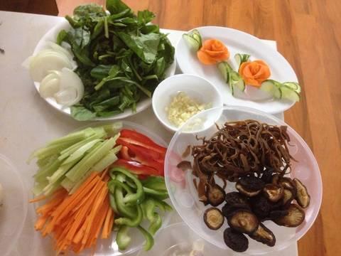 Miến xào Japchae Hàn Quốc recipe step 4 photo