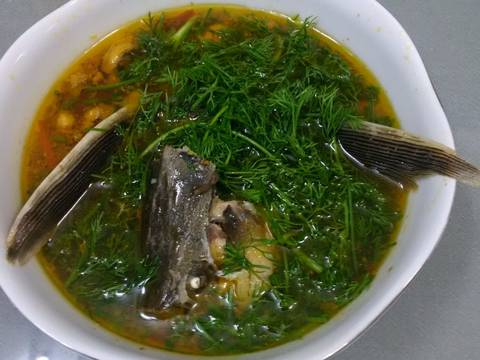 Cá tầm nấu canh thì là recipe step 4 photo