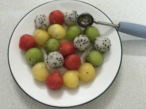 Sinh tố 4 màu với hạt chia recipe step 1 photo