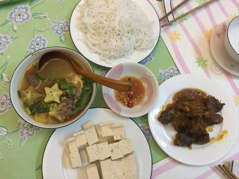 Canh bắp bò nấu khế và cà chua recipe step 7 photo